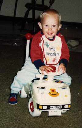 Jacob's brother Donny when aged about 1 year old.