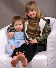 Children with Down syndrome - sisters