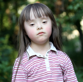 girl, sadness, depression, down syndrome