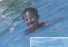 Jacob's swimming confidence grew considerably with proper instructors and guidance - Down Syndrome kids have one big obstacle, they often live down to the expectations of those around them!